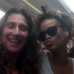 Rihanna on Jubilee Line