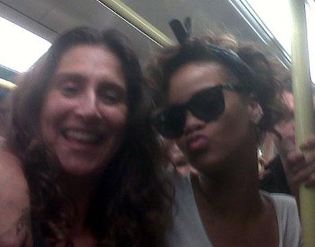 Rihanna on the Jubilee line