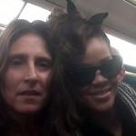 Adrienne Amado with Rihanna